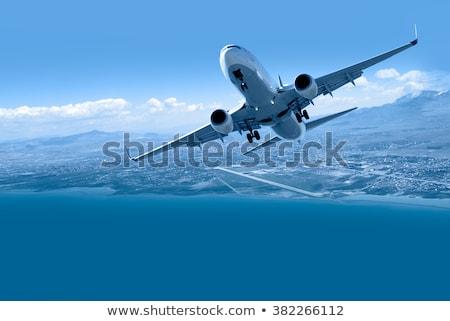 Jet aereo cielo blu tre aviazione Foto d'archivio © 5xinc
