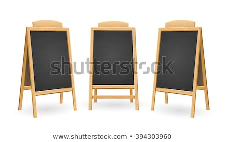 Empty Chalk Board on a easel Stock photo © homydesign