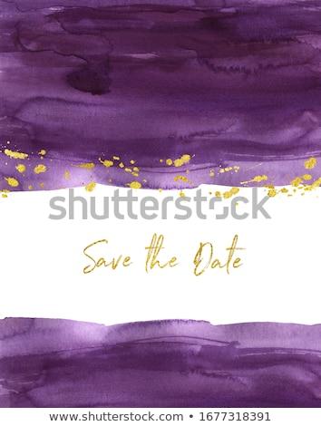 Prune blanche couleur pour aquarelle illustration isolé peinture Photo stock © ConceptCafe