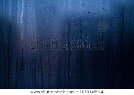 Eső vízcseppek áramlás lefelé bokeh sötét Stock fotó © romvo