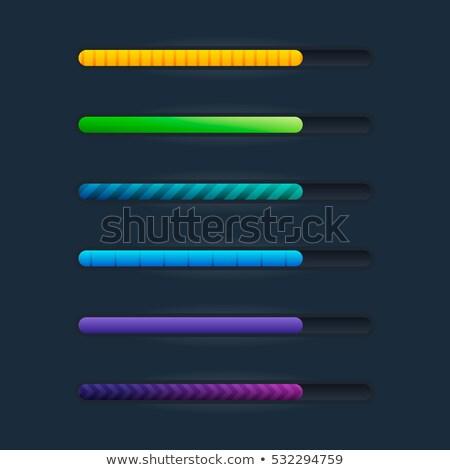 Mavi oyun arayüz elemanları karikatür stil Stok fotoğraf © studioworkstock