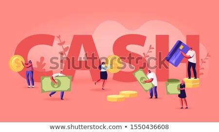 Making money and savings flyers Stock photo © studioworkstock
