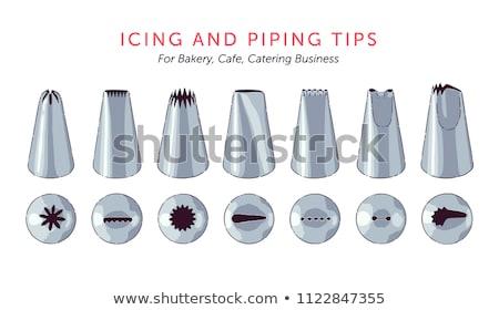 Hét fém cukormáz különböző formák kettő Stock fotó © sarahdoow