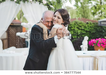 Bride with Father smiling portrait Stock photo © IS2