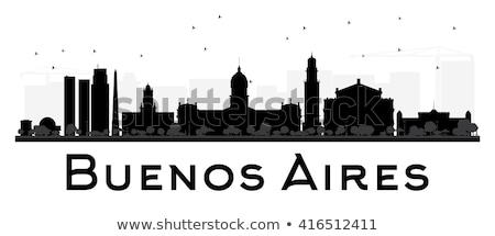 Stock fotó: Buenos · Aires · sziluett · sziluett · modern · vízpart · kerület