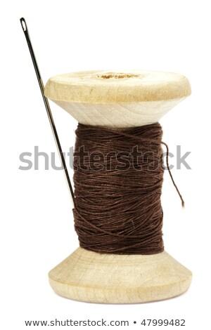 Makara kahverengi moda dizayn kumaş beyaz Stok fotoğraf © OleksandrO