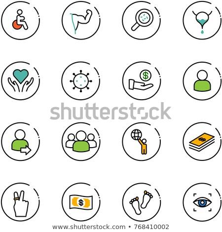 Currency Sign Black Vector Button Icon Design Set, vector illustration. Stock photo © kyryloff