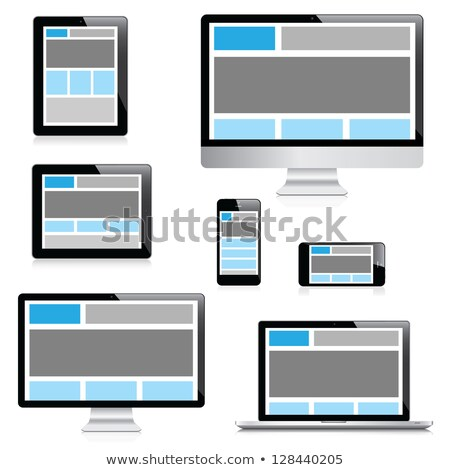 Fully responsive web design in modern electronic devices, set of modern digital tech devices isolate Stock photo © kurkalukas