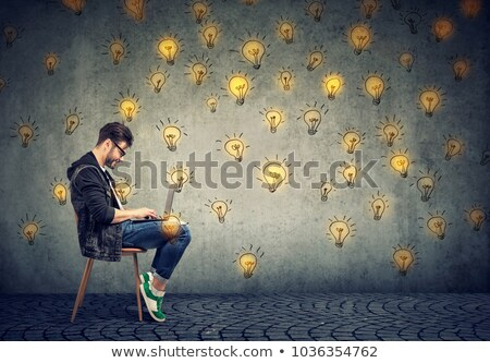 Smart man with plenty of ideas Stock photo © ichiosea