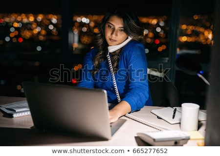 предпринимателей компьютер рабочих поздно служба бизнеса Сток-фото © dolgachov