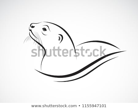 Cartoon Otter Sign Stock photo © cthoman