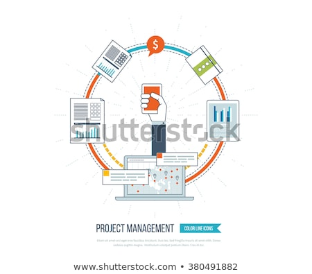 Financial investment, analytics with growth report.  Stock photo © cifotart
