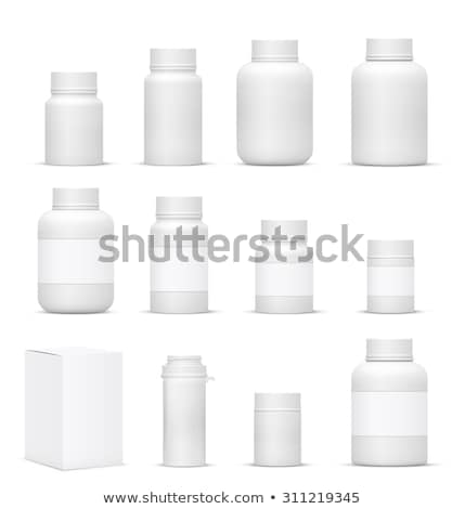 Medicines in Plastic Containers with Labels Set Stock photo © robuart