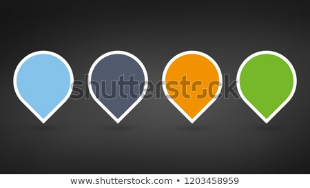 set of colorfull map pointers or pins with blank space for icons vector illustrations isolated on b stock photo © kyryloff