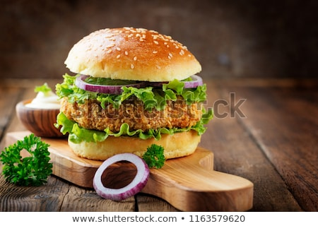Fast-Food Hamburger Brathähnchen Sauce Grafik Kunst Stock foto © robuart