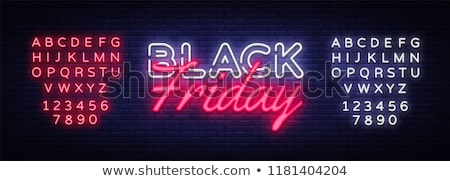 Black friday neon abstract lumina proiect negru Imagine de stoc © SArts