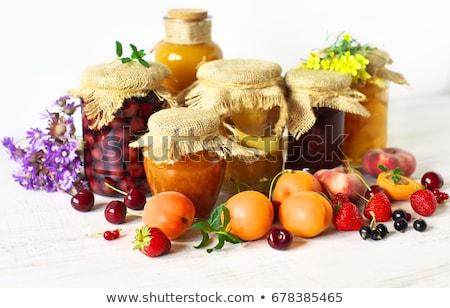 Conservado comida frutas congestionamento doce morangos Foto stock © robuart