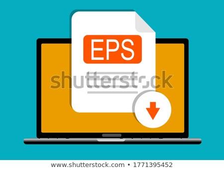 Klavye mavi düğme indirmek ofis Internet Stok fotoğraf © Zerbor