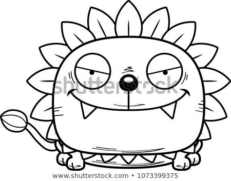 Karikatür sinsi karahindiba aslan örnek genç Stok fotoğraf © cthoman