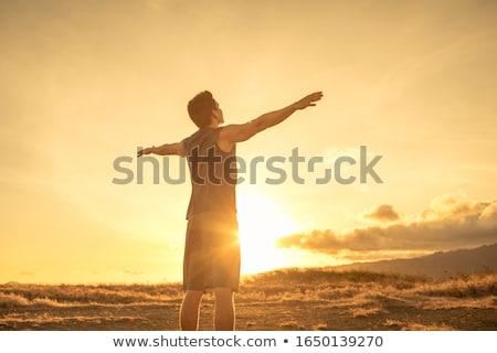 man free climber Stock photo © adrenalina