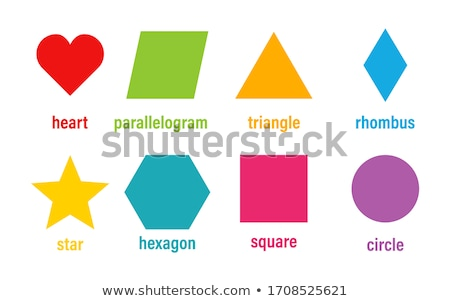 colorful hexagon icon vector frame set Stock photo © blaskorizov