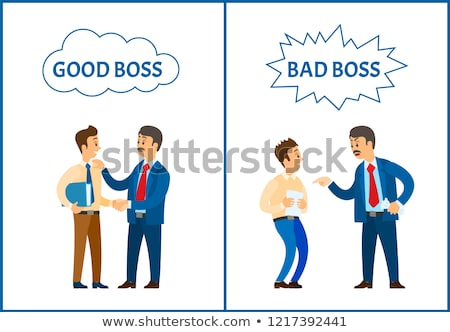 Bad and Good Job Vector Poster, Unsatisfied Boss Stock photo © robuart