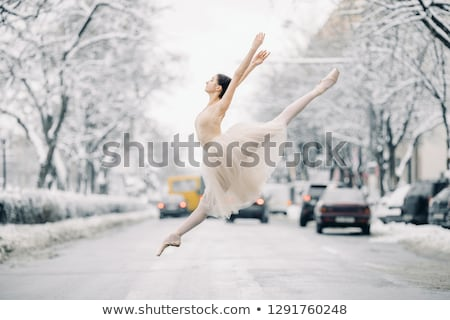 hermosa · bailarina · baile · calle · ciudad · transparente - foto stock © Stasia04