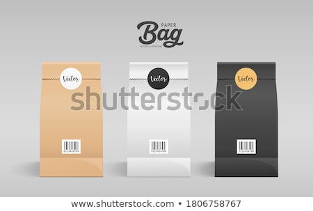 Brown craft paper with a black circle pattern Stock photo © Zerbor