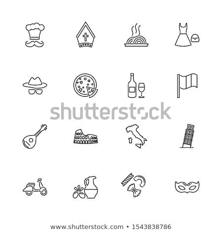 símbolos · Veneza · canal · ver · gôndola · máscara - foto stock © netkov1