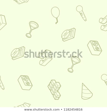 Music color outline isometric pattern Stock photo © netkov1