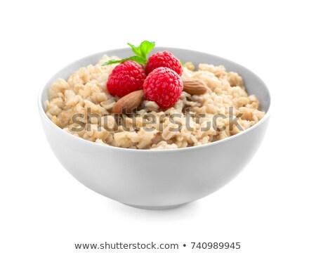 Oatmeal on white Stock photo © AGfoto