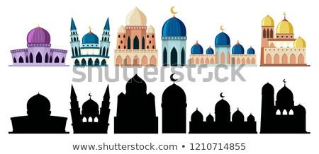 gyönyörű · mecset · iszlám · minta · boldog · háttér - stock fotó © colematt