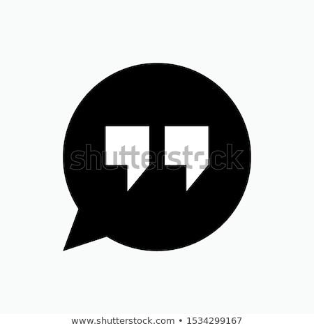 konuşma · logo · vektör · iş · sanat · konferans - stok fotoğraf © kyryloff