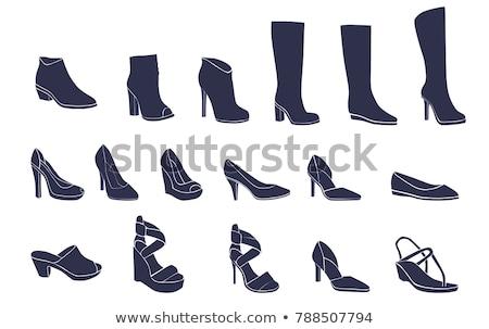 Woman boot icon Stock photo © angelp