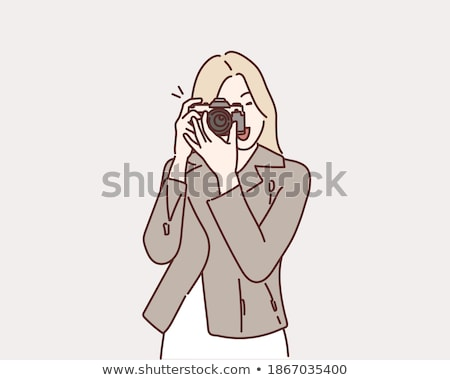 Casual photography - colorful line design style illustration Stock photo © Decorwithme