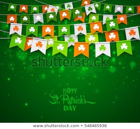Trevo folha Irlanda bandeira cores dia de São Patricio Foto stock © SArts