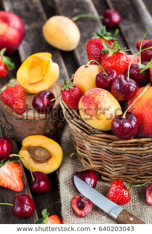 apricot peach and strawberry stock photo © conceptcafe