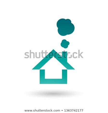 теплица дым икона вектора иллюстрация изолированный Сток-фото © cidepix