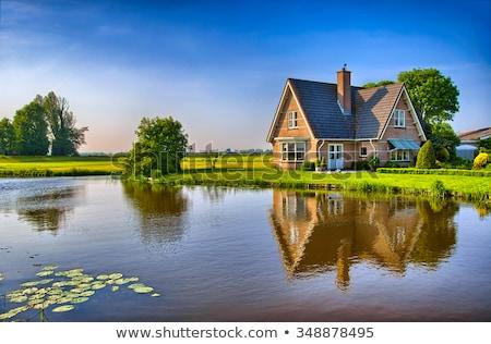 A rural house landscape Stock photo © colematt