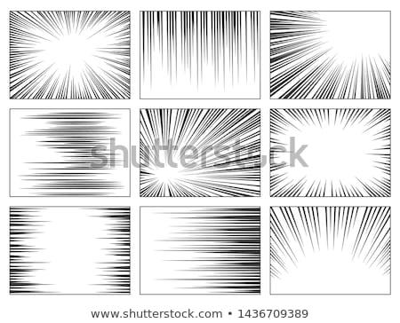 Komische zoom lijnen banners ingesteld abstract Stockfoto © SArts