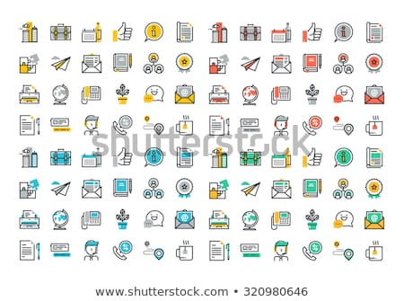 Colorful icon set of business, marketing, technology, event and networking for mobile applications a Stock photo © makyzz