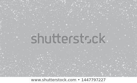karácsony · hópelyhek · kártya · tél · ünnepek · ezüst - stock fotó © swillskill