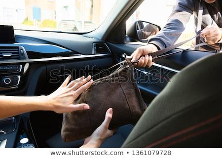 coche · ladrón · bloqueo · noche - foto stock © andreypopov