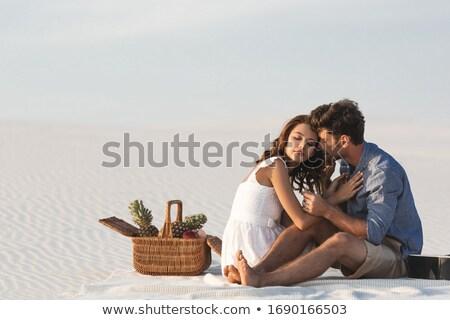 Летние каникулы пару природы человека играет Сток-фото © robuart