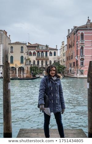 gaviota · puente · retrato · Venecia · agua · aves - foto stock © andreypopov