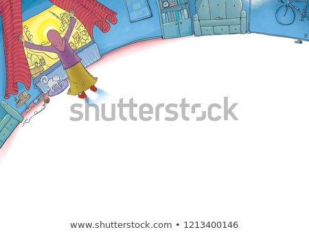 Pretty young muslim woman on background of wooden door Stock photo © pressmaster