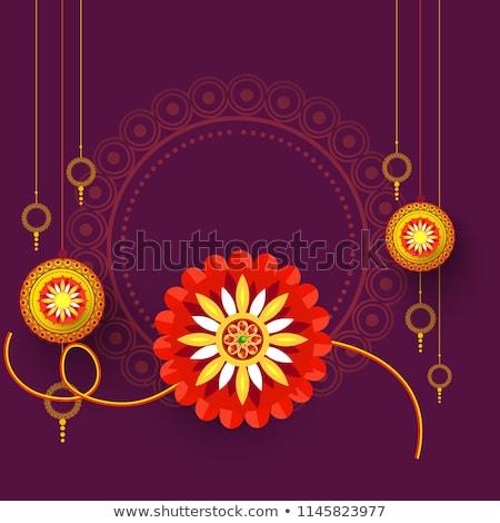 raksha bandhan festival background with decorative rakhi Stock photo © SArts