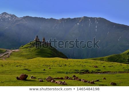 Régió Grúzia kilátás magas szélességi fok hegyek Stock fotó © boggy
