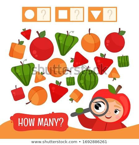 counting shapes educational game for kids stock photo © izakowski
