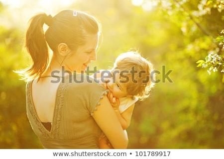 красивой матери мало ребенка мальчика лес Сток-фото © Lopolo